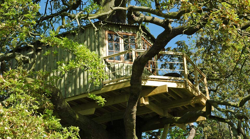Bespoke adults treehouse design in the Irish countryside