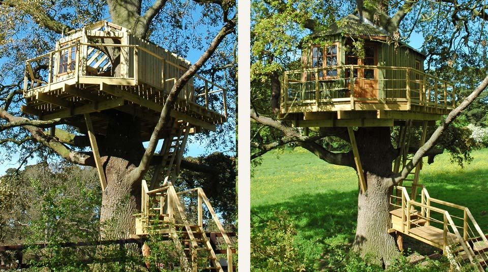Irish bespoke adult treehouse in construction built